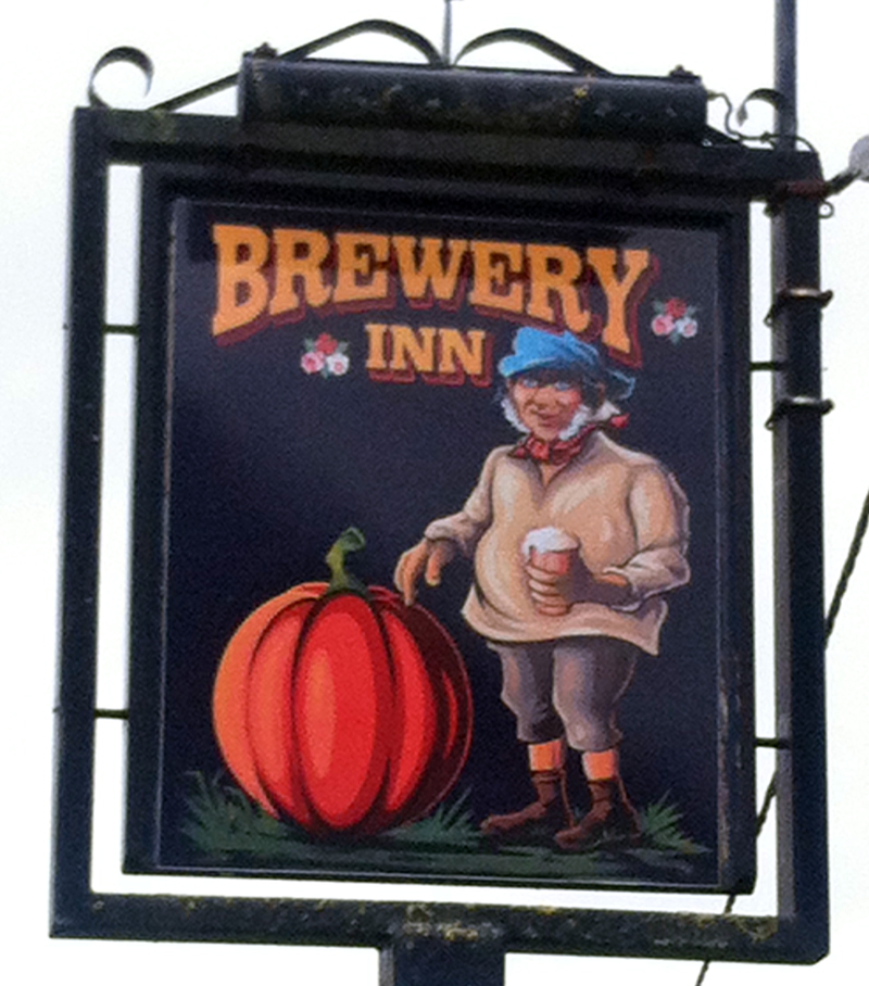 Brewery Inn Seend Cleve sign