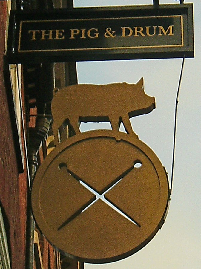 Pig and Drum Worcester sign