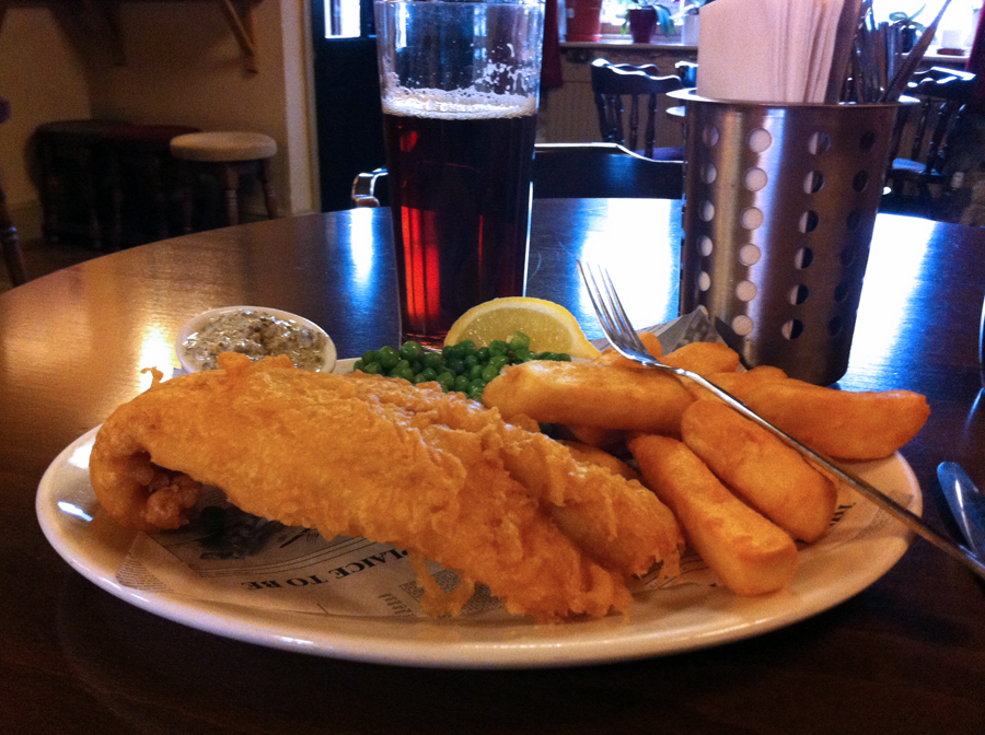 Red Lion Marston fish and chips