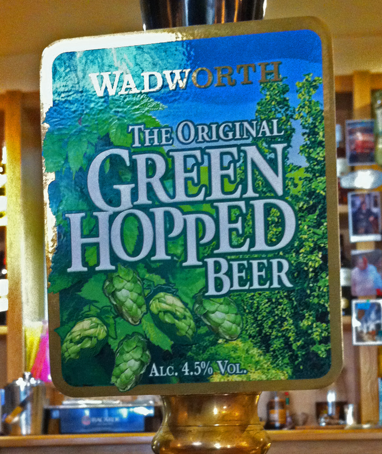 Wadworth Green Hopped Beer pump