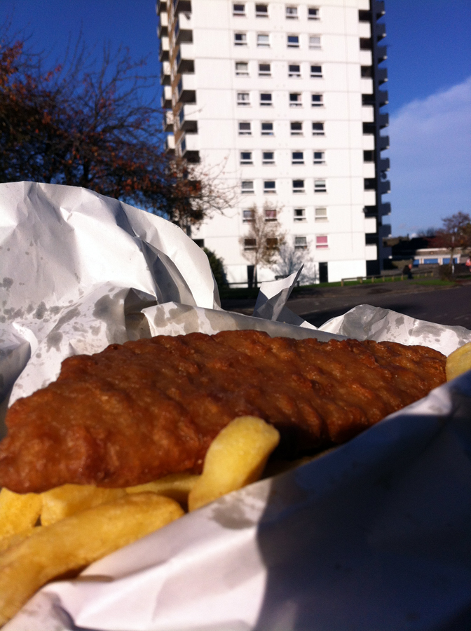 Wingloon House Oxford cod and chips