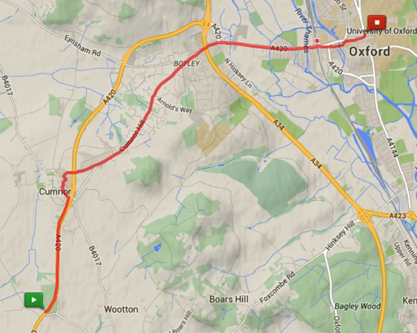 2014-12-02 Besselsleigh to Oxford