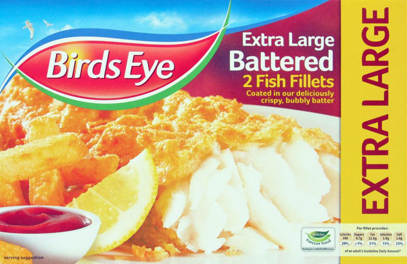 BirdsEye Battered Cod Box