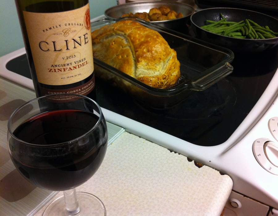 Cline Zinfandel and Beef Wellington