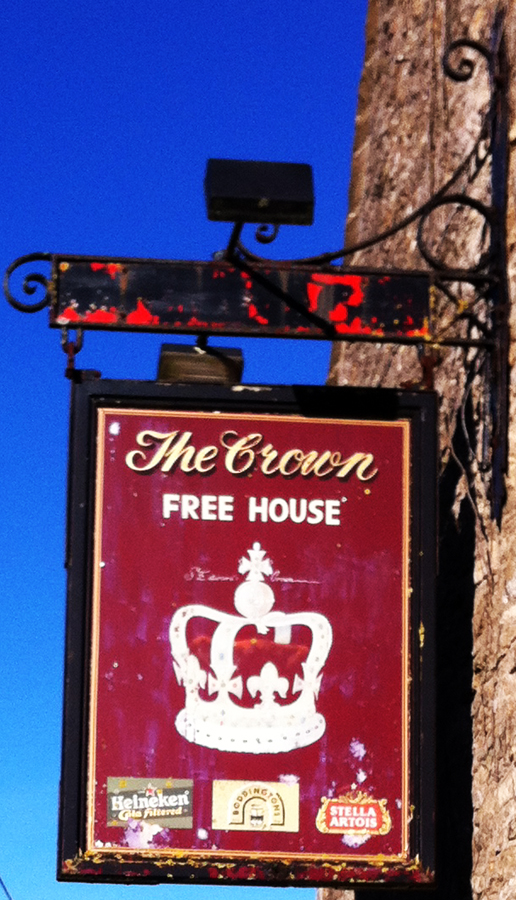 crown cerney wick sign
