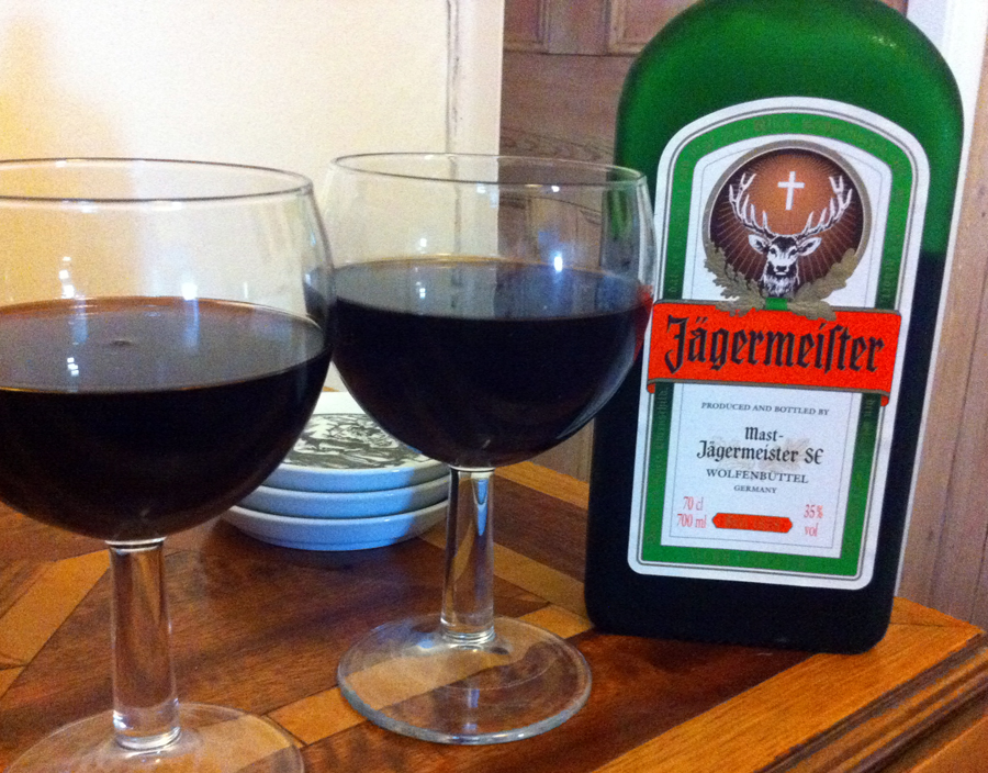 Jaegermeister for Christmas decorating