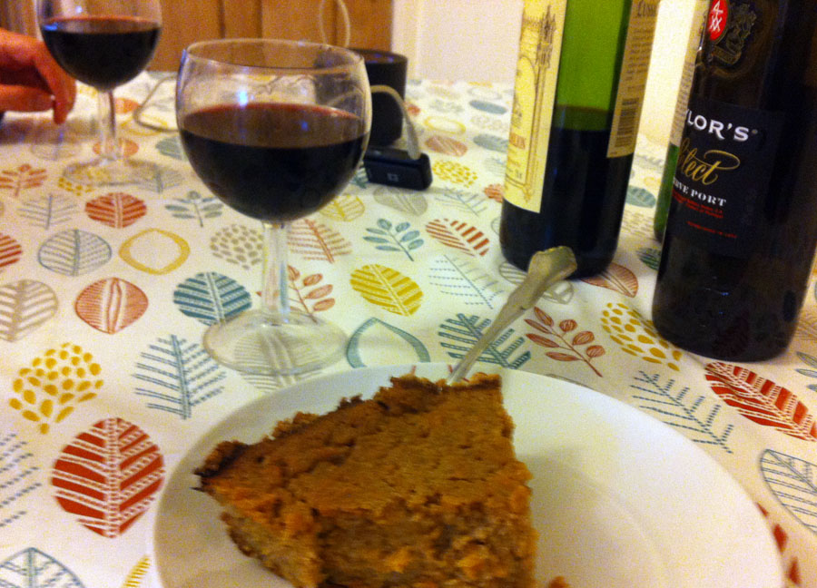 port and sweet potato pie